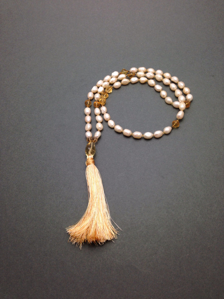 Citrine Honey Mala
