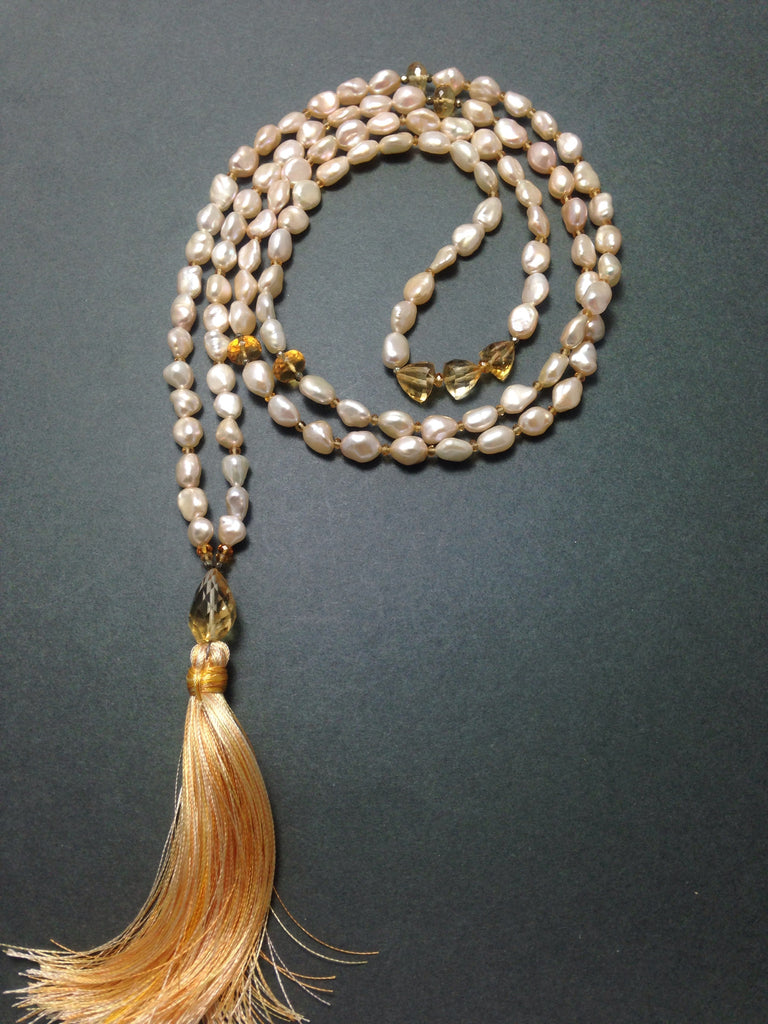 Citrine Honey Mala - 108 pearls