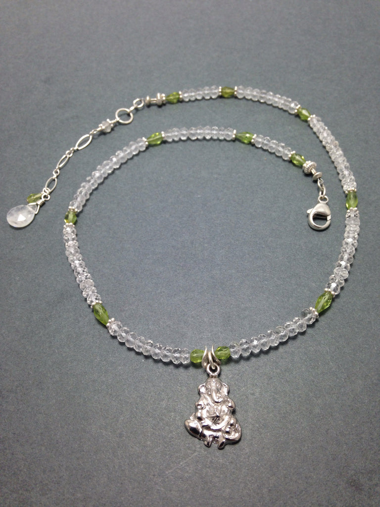 The Ganesh Project - Quartz & Peridot, Sterling Silver