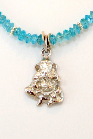 The Ganesh Project - Blue Apatite (Silver)