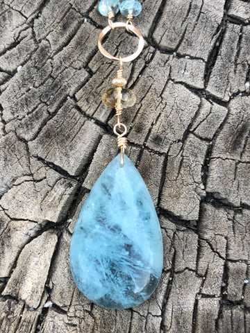 Aquamarine long chain -sold, other options available
