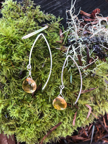 Citrine Drops Sterling Silver