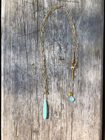 Chalcedony Dream in Gold Long
