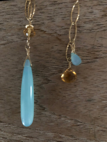 Chalcedony Dream in gold