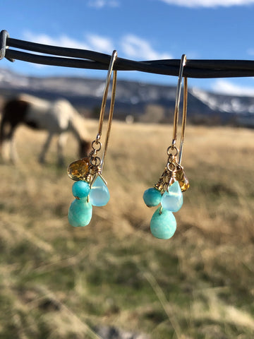 Blues & golds amazonite