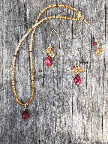 Ruby & Citrine necklace