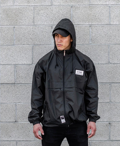 Black Unisex Windbreaker