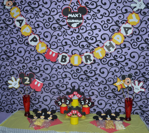 Deluxe Mickey Mouse Birthday Party Package.