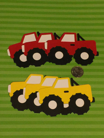 "Monster Truck themed set of 20 3"" Die cuts great for favor tags and scrapbooking."
