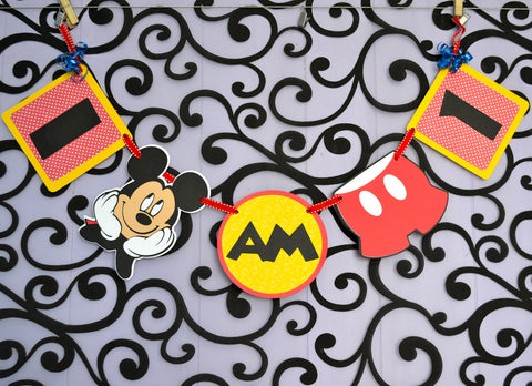 Mickey Mouse Clubhouse I am 1 Highchair  1st Birthday Banner.