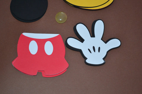 "Mickey themed set of 20 3"" Die cuts great for favor tags and scrapbooking."