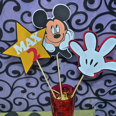 Mickey Themed Birthday Party Table Toppers/ Table Centerpiece set (3)