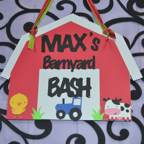 Down on the Farm Barnyard Door Sign / Party Sign.