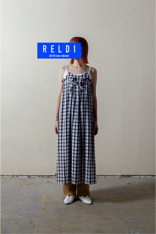 GINGHAM-CHECKED MOTORCYCLE DRESS / REL212-008