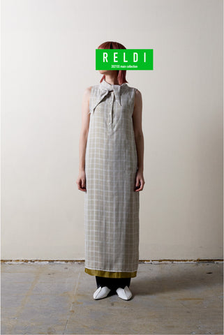 LAYERED CHECK DRESS /  REL212-003