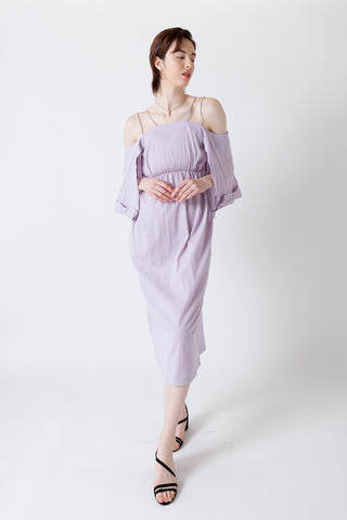 SHEER CRAPE SLIP DRESS【REL202-005】