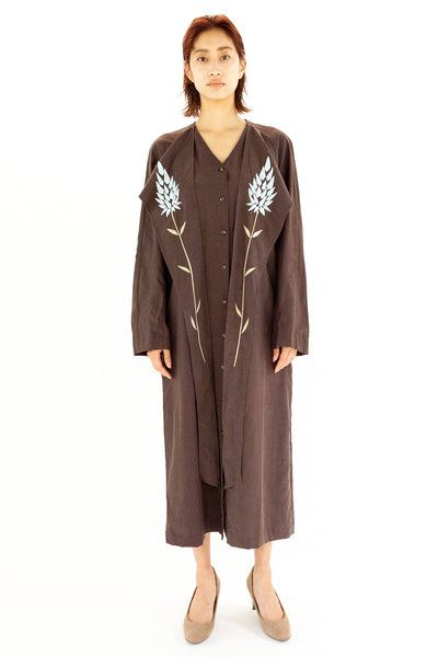 """SAI-DO project"" EMBROIDERED DRESS【REL202S-001 / BROWN】"