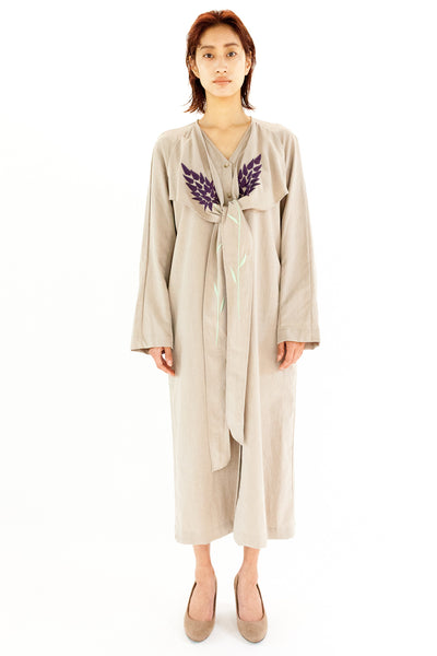 """SAI-DO project"" EMBROIDERED DRESS【REL202S-001 / BEIGE】"