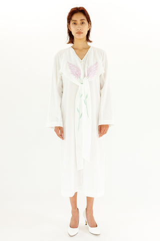"""SAI-DO project"" EMBROIDERED DRESS【REL202S-001 / WHITE】"