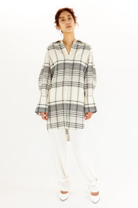 SHEER CHECKED TUNIC【REL204-003】