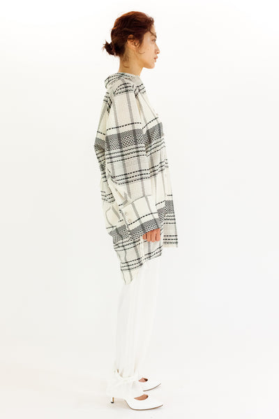 SHEER CHECKED TUNIC【REL204-004】