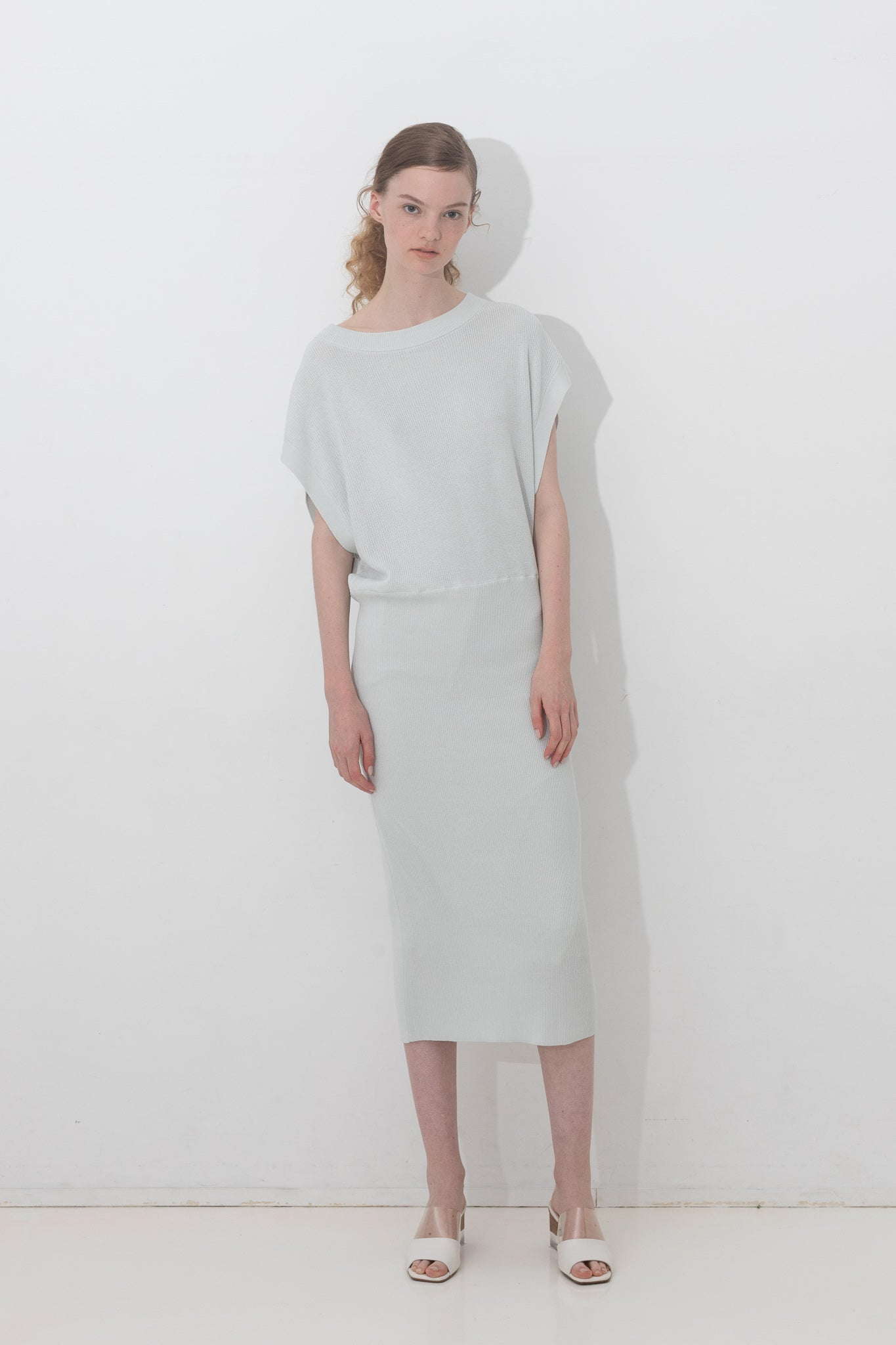 BLOUSING KNIT DRESS【REL201-015】