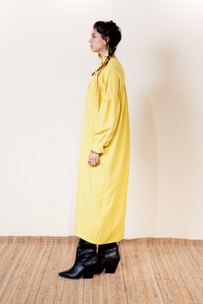 【NEW】CONE SHAPED TAB DRESS / REL205-014