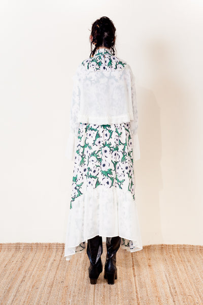 "【NEW】CHIFFON LAYERED DRESS【Pattern by LeeIzumida ""ANEMONE""】/ REL205-009"