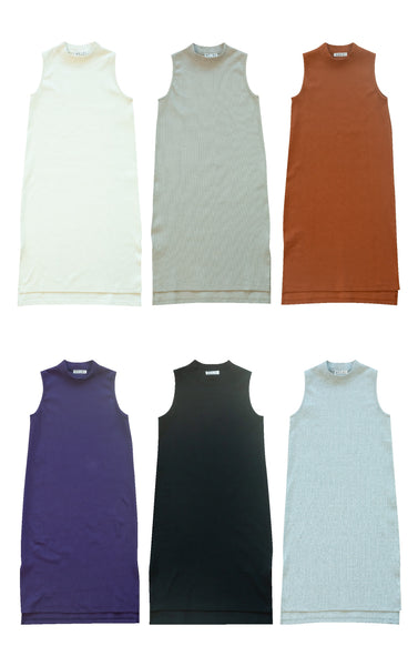 【ar掲載】HIGH-NECKED STRETCH RIB DRESS