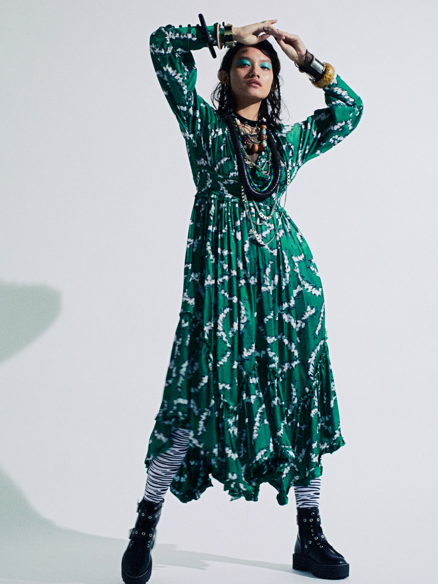 "【NEW】TIERED DRESS 【Pattern by LeeIzumida ""HEATH""】/ REL205-004"