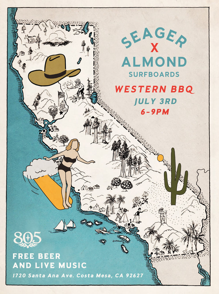 3rd of July BBQ @ Almond Surf Shop