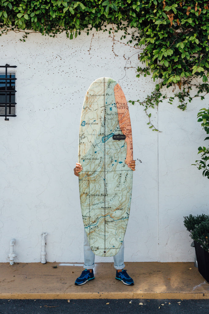 Map Print Surfboard