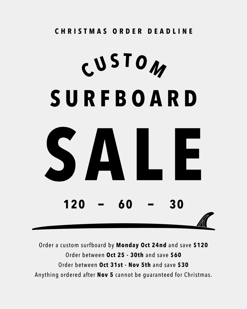 120 / 60 / 30 Surfboard Christmas Sale