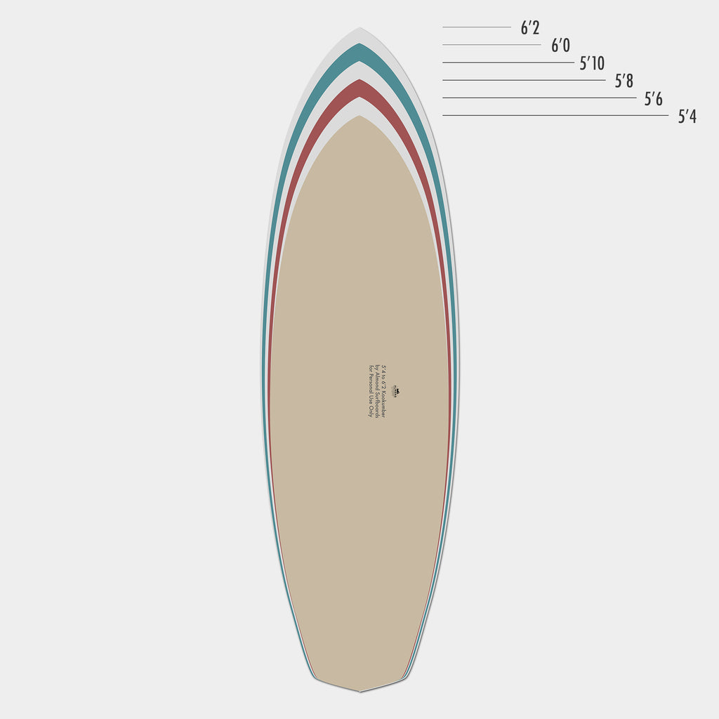 photo regarding Printable Surfboard Templates titled Absolutely free Downloadable Kookumber Template Almond Surfboards