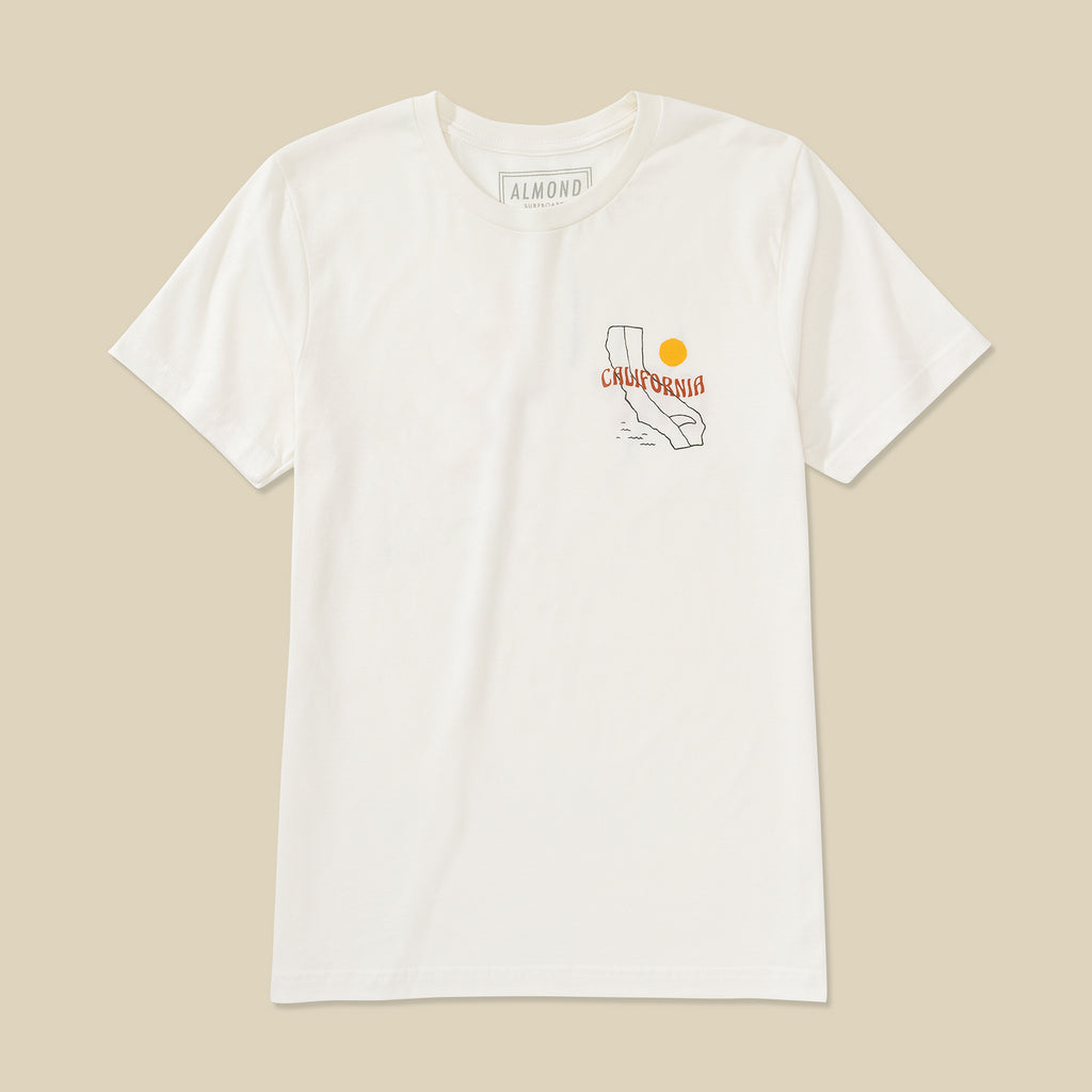 Surf California Tee | White