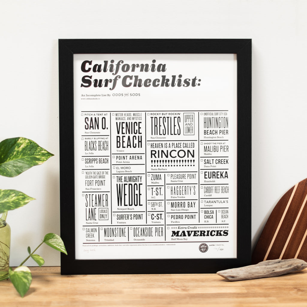 "California Surf Check <br/>16"" x 20"" Poster"