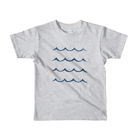 Kids Waves Tee | Heather Grey