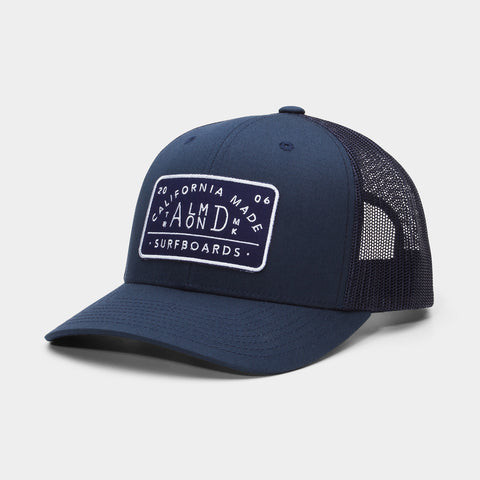 Navy Almond Trucker Hat