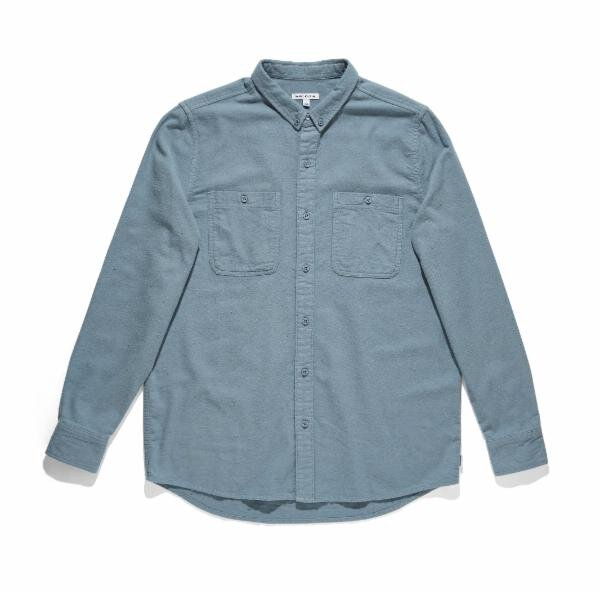 Somedays Woven Shirt | Stone Blue
