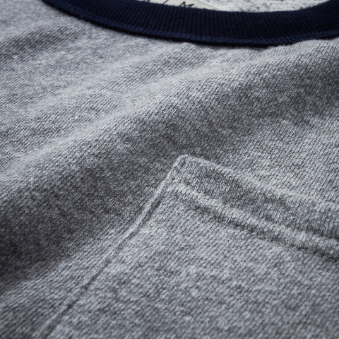 Drew Crewneck | Heather + Navy