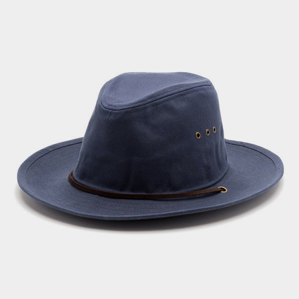 Helm Hat | Navy Waxed