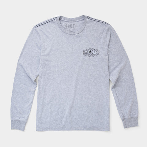 Hex Badge Longsleeve | Heather Grey