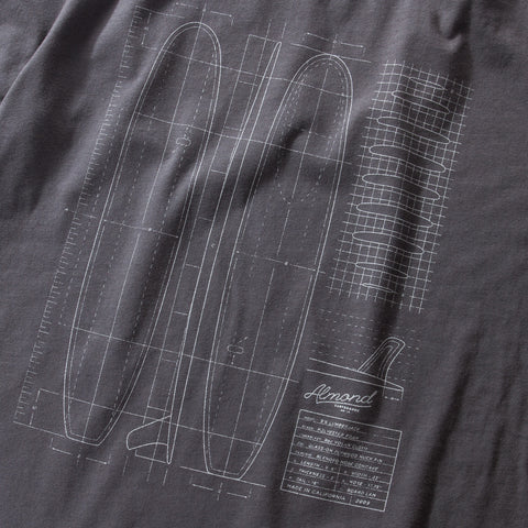Lumberjack Plans T-shirt | Washed Charcoal