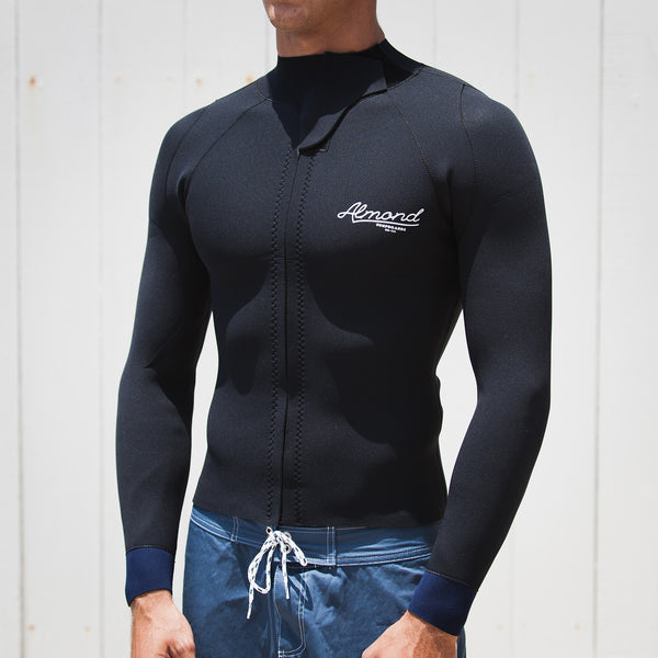 2mm Wetsuit Jacket // Black + Navy