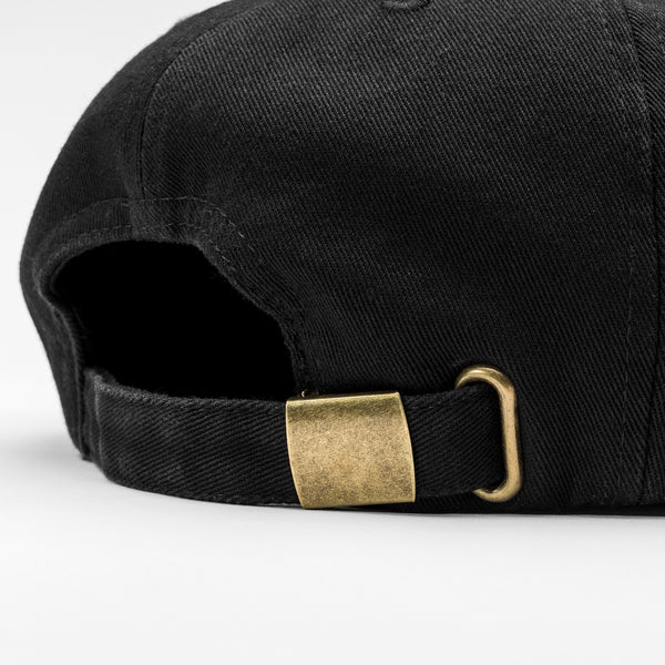 Almond x Slightly Choppy Flag Patch Hat | Washed Black