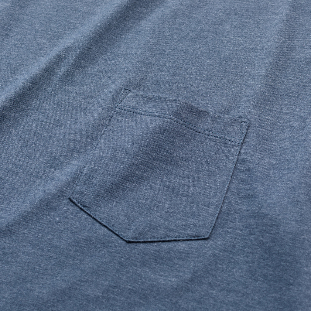 Heather Pocket Tee | Navy