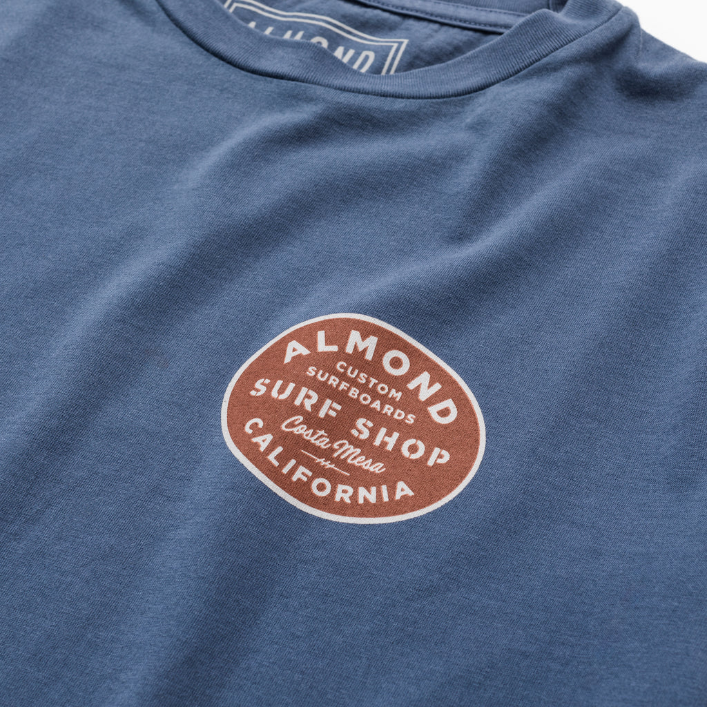 Shop Badge Tee | Washed Blue