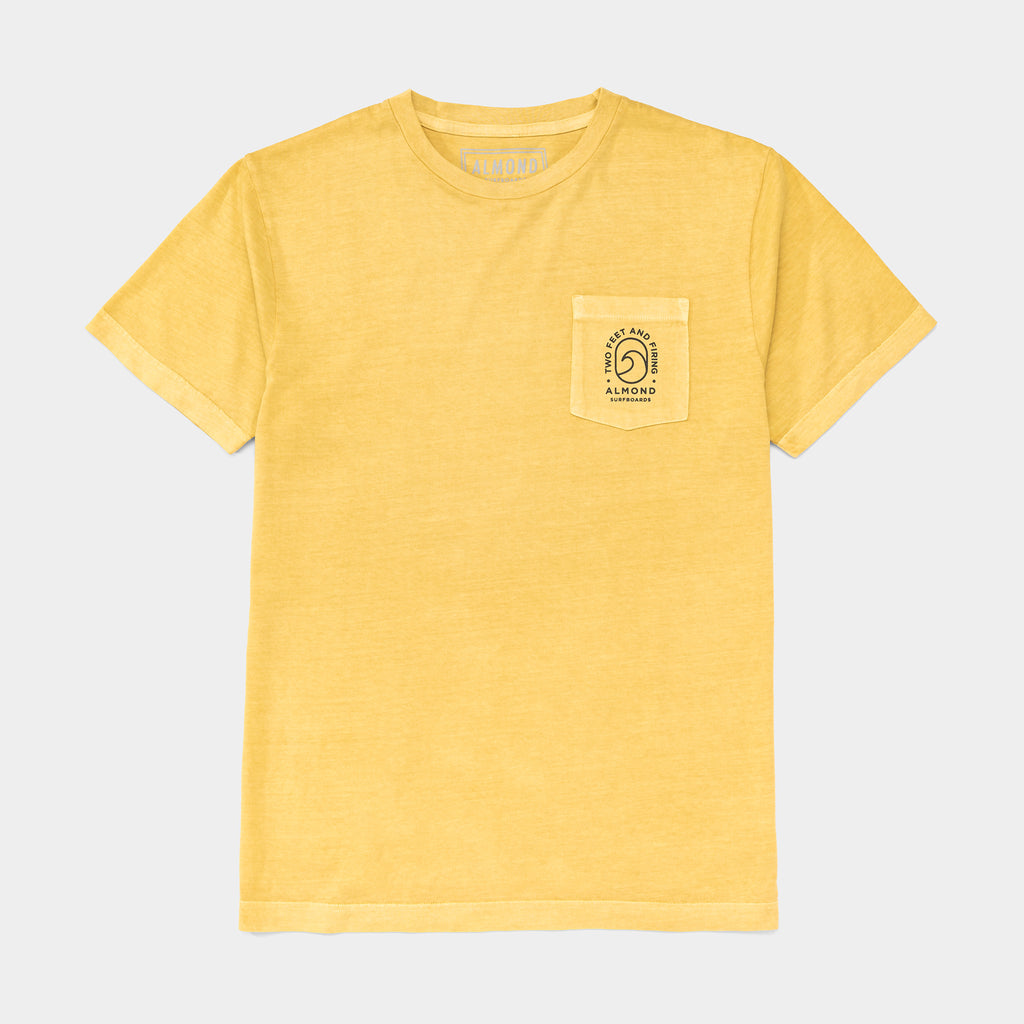 Wave Badge Pocket Tee | Yellow