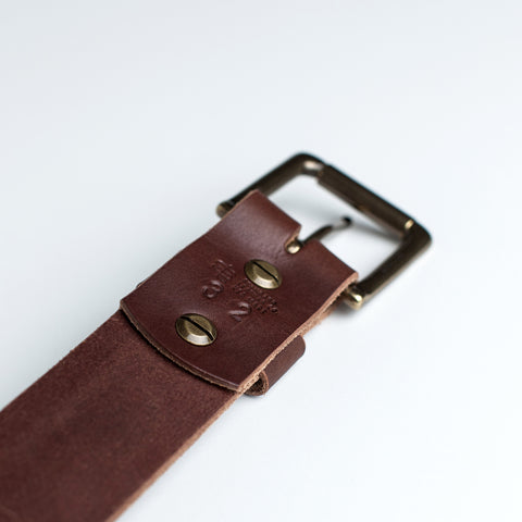 Standard Leather Co <br/> Dark Brown Belt