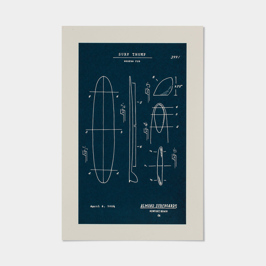 "Surf Thump Plans | 12.5"" x 19"" Print"